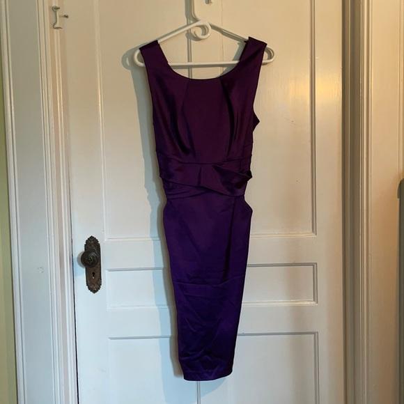 Purple Satin Le Chateau Party Dress
